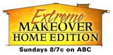 Extreme makeover Home Edition logo. Sundays 8/7c on ABC